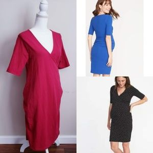 Old Navy Maternity Pink Surplice Bodycon Dress
